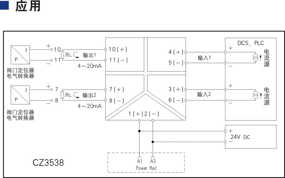 二进二出 模拟量输出隔离器