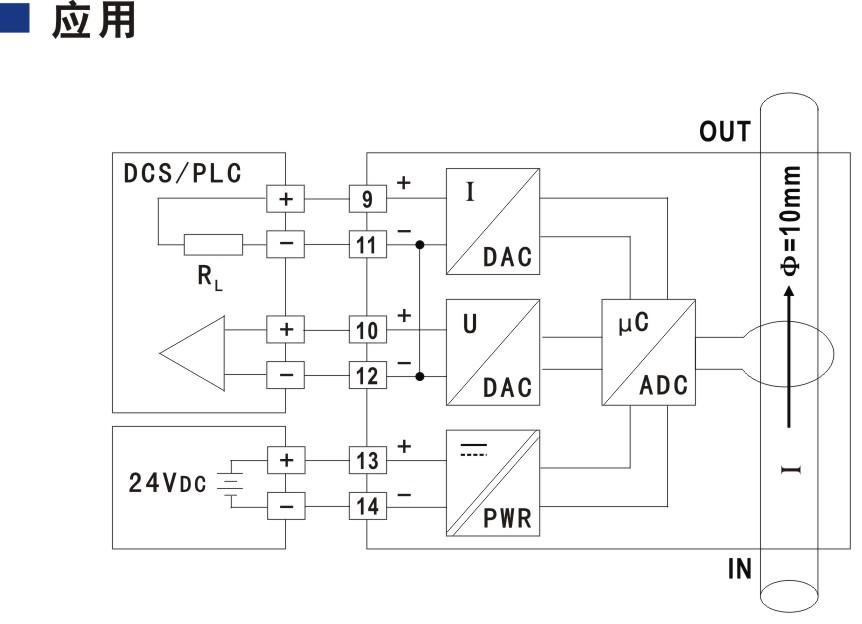 穿孔型电量变送器