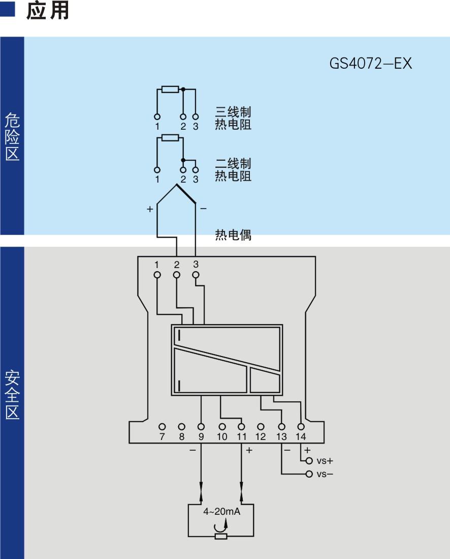 一进一出 热电阻、热电偶输入隔离式安全栅