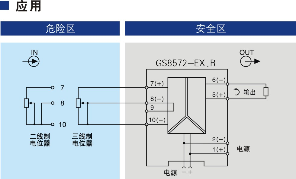 一进一出 电位器输入隔离式安全栅