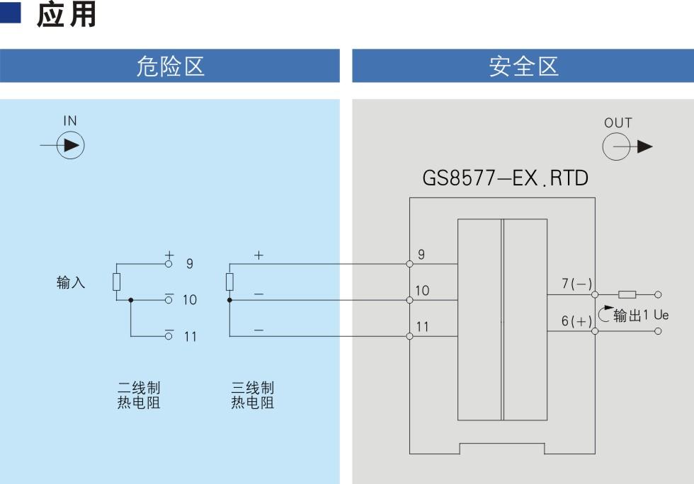 一进一出 热电阻输入隔离式安全栅(回路供电)