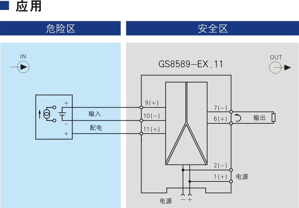 一进一出 电压信号输入隔离式安全栅