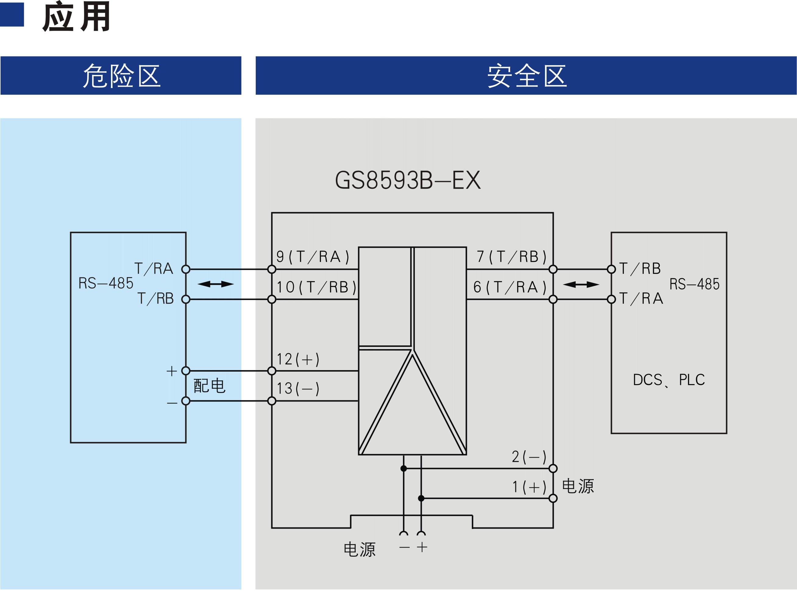 一进一出 RS-485半双工输入RS-485半双工输出隔离式安全栅