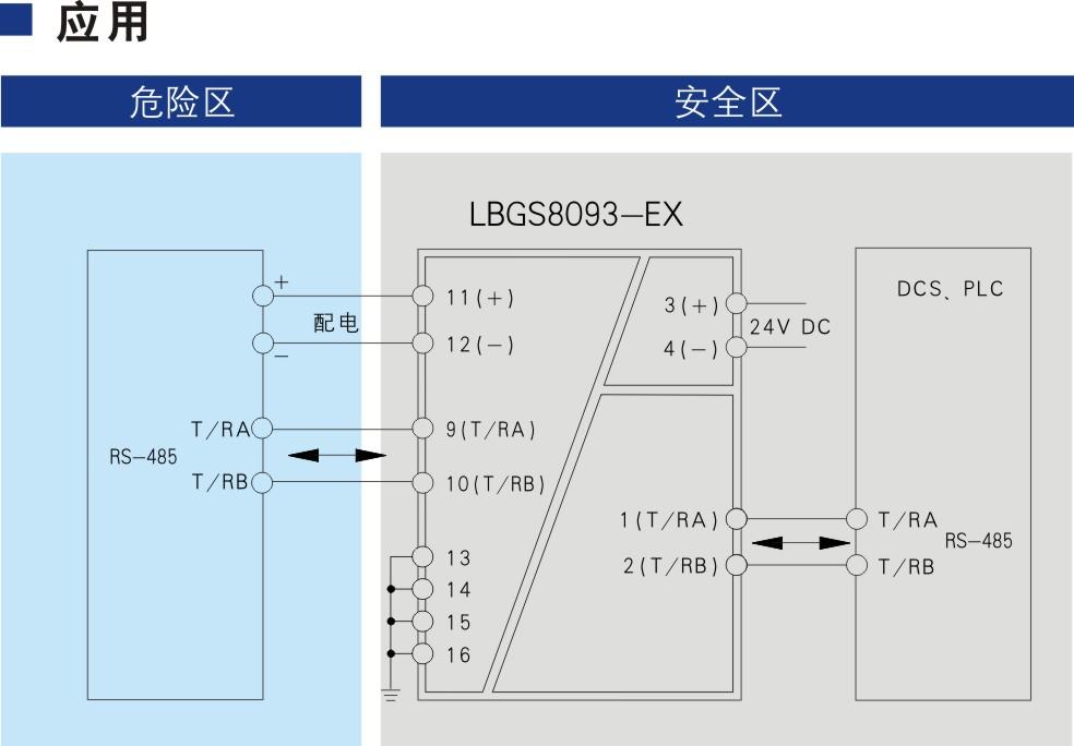 一进一出 RS-485半双工输入输出隔离式安全栅