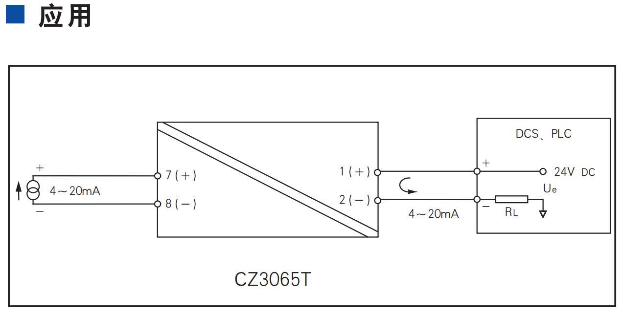 一进一出 模拟量输入隔离器(回路供电)