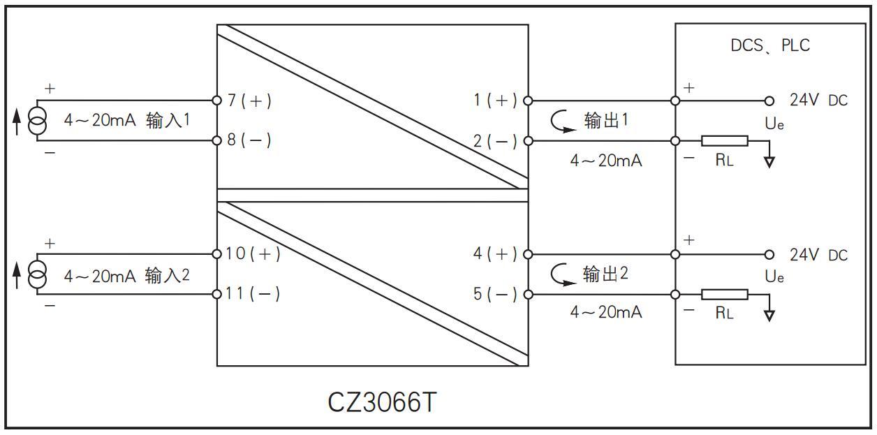 二进二出 模拟量输入隔离器(回路供电)