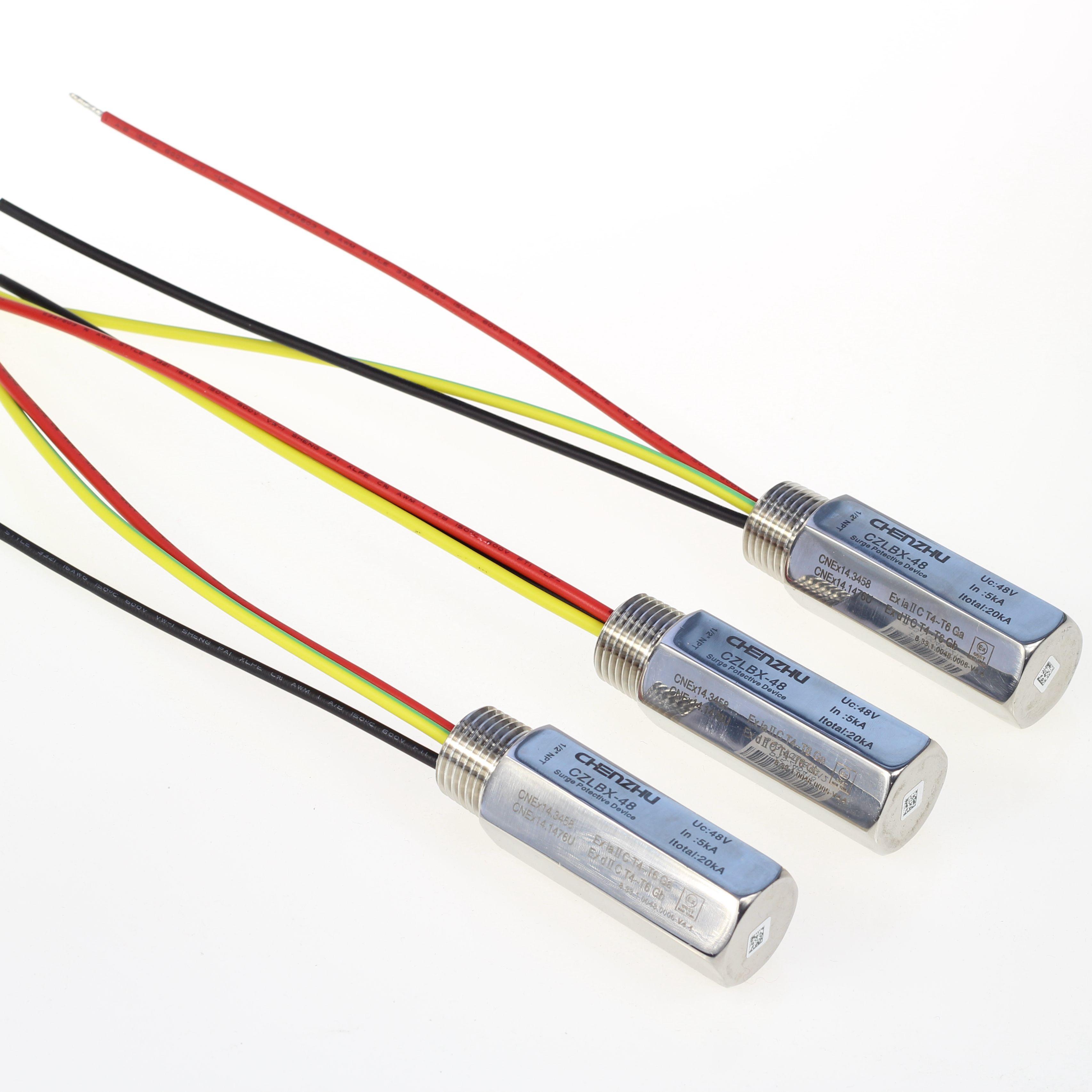 本安现场安装防爆型信号浪涌保护器(并联型,10KA,四线制)