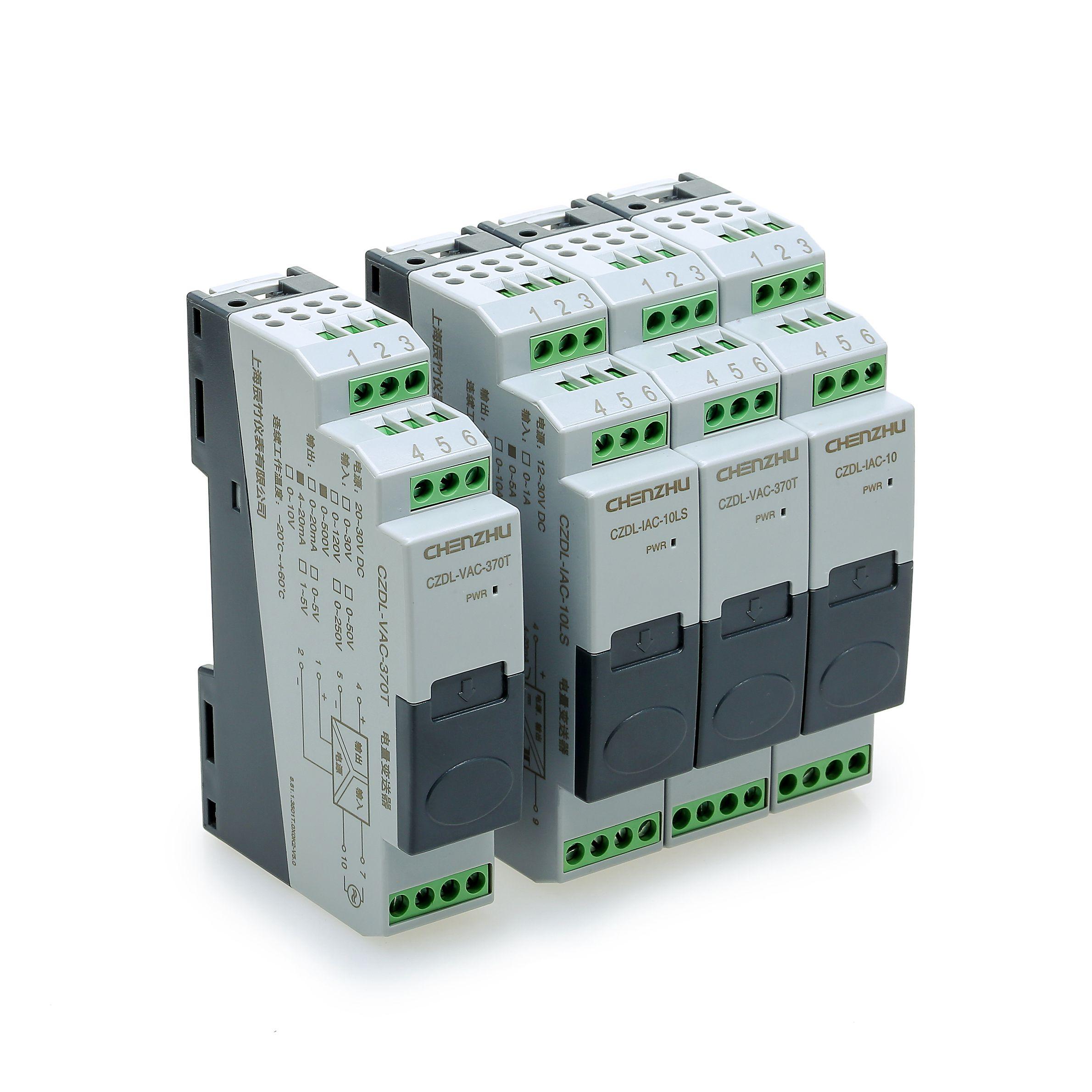 交流电流输入,模拟量输出(真有效值),φ25mm孔径,直流供电;一进一出