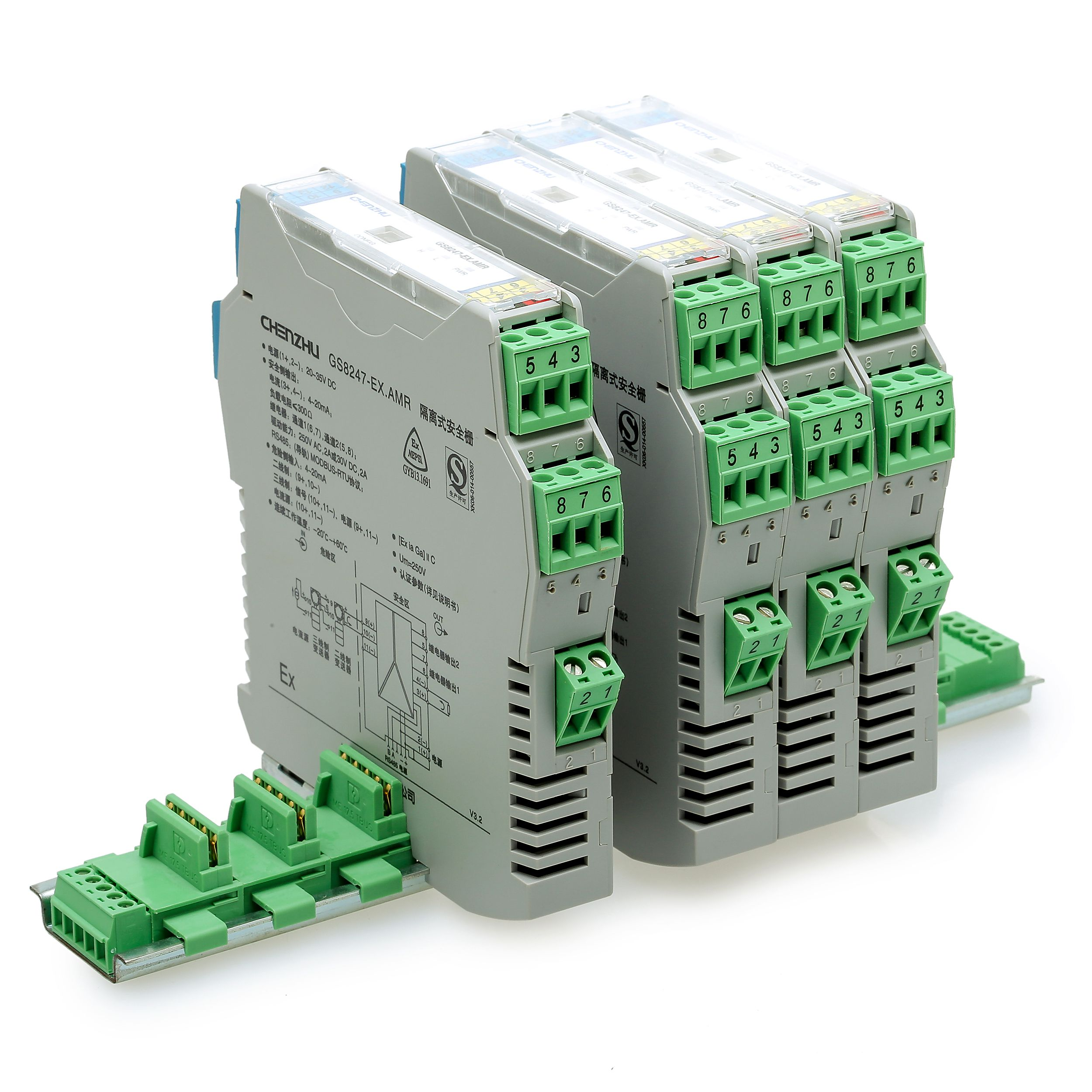 一进一出 RS-232输入RS-485半双工输出隔离式安全栅